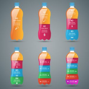 butelki wody z logo